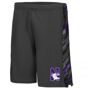 Northwestern University Wildcats Colosseum Men's Charcoal Mustang Short with N-Cat Design