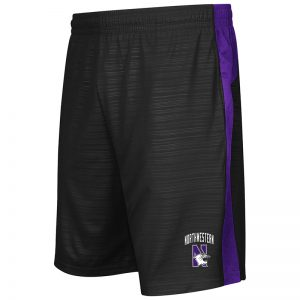 Northwestern University Wildcats Colosseum Purple/Black In The Vault Short with N-Cat Design