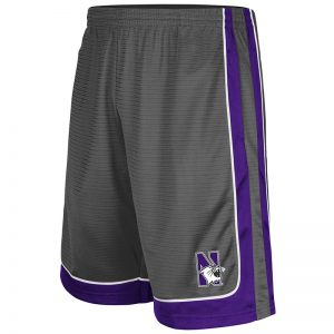 Northwestern University Wildcats Men's Colosseum Charcoal / Purple Big Salad Short with N-Cat Design