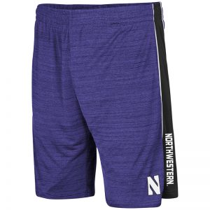 Northwestern University Wildcats Colosseum Purple Grounder Short with Stylized N Design