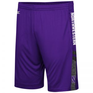 Northwestern University Wildcats Men's Colosseum Purple/Heather Charcoal/Black Perfect Season Shorts with Stylized N Design
