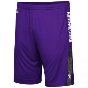 Northwestern University Wildcats Men's Colosseum Purple/Heather Charcoal/Black Perfect Season Shorts with N-Cat Design