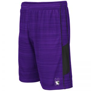 Northwestern University Wildcats Men's Colosseum Purple/Black Wewak Short with N-Cat Design