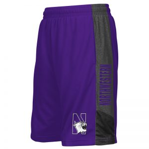 Northwestern University Wildcats Youth Colosseum Purple Strike Short with N-Cat Design