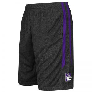 Northwestern University Wildcats Youth Colosseum Heather Black / Purple Sidler Short with N-Cat Design