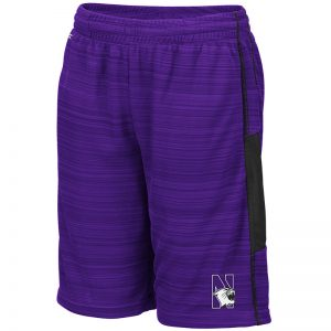 Northwestern University Wildcats Colosseum Purple Youth Wewak Short with N-Cat Design
