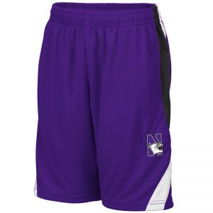 Northwestern University Wildcats Colosseum Purple/Black/White Youth Rio Short with N-Cat Design