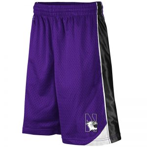 Northwestern University Wildcats Colosseum Purple/Black/White Youth Vector Short with N-Cat Design