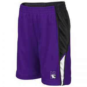 Northwestern University Wildcats Toddler Colosseum Purple/Black/White Duncan Short with N-Cat Design