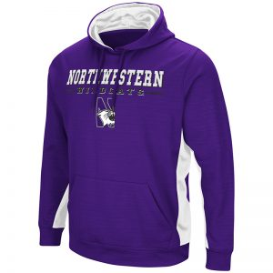 Northwestern University Wildcats Colosseum Purple/White Setter Pullover Hooded Sweatshirt with N-Cat Design