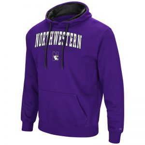 Northwestern University Wildcats Colosseum Purple Zone III Pullover Hooded Sweatshirt with N-Cat Design