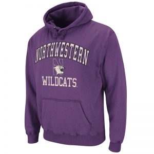 Northwestern University Wildcats Colosseum Purple Outlaw Pullover Hoodie with Northwestern N-cat design
