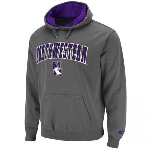 Northwestern University Wildcats Colosseum Automatic Pullover Hoodie with N-Cat Design