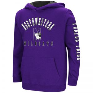 Northwestern University Wildcats Colosseum Purple Youth Berminator Zone II Pullover with N-Cat Design
