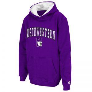 Northwestern University Wildcats Colosseum Purple Youth Automatic Pullover Hooded Sweatshirt with N-Cat Design