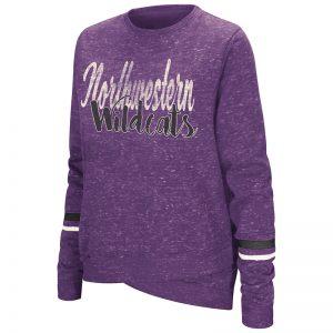 Northwestern University Wildcats Colosseum Ladies Purple Birdie: Pullover with Script Northwestern Wildcats Design