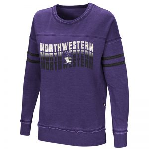 Northwestern University Wildcats Colosseum Ladies Purple Ambassador Of Kwan Pullover with N-Cat Design