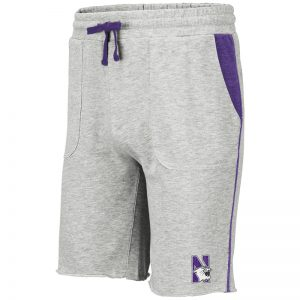 Northwestern University Wildcats Men's Colosseum Heather Grey Medellin Short with N-Cat Design