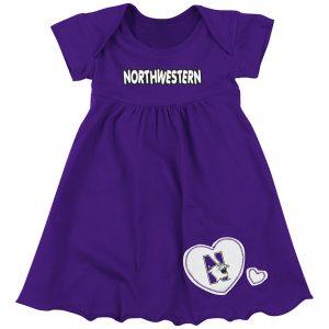Northwestern University Wildcats Colosseum Purple Infant Superfan Dress with N-Cat Design