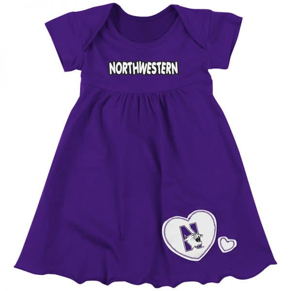 Northwestern University Wildcats Colosseum Purple Infant Superfan Dress with N-Cat Design