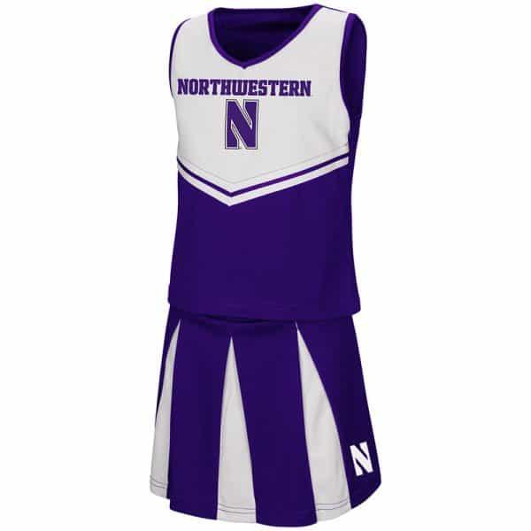 Northwestern University Wildcats Colosseum Youth Girls Purple/White Pom Pom Cheer Set with Stylized N Design