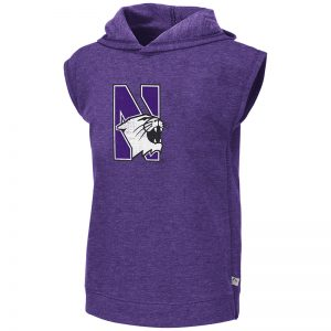 Northwestern University Wildcats Colosseum Girls Purple Krems Sleeveless Hoodie with N-Cat Design