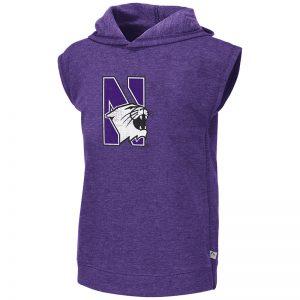 Northwestern University Wildcats Colosseum Girls Purple Krems Sleeveless Hoodie with N-Cat Design