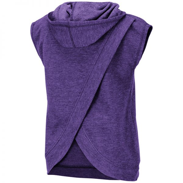 Northwestern University Wildcats Colosseum Girls Purple Krems Sleeveless Hoodie with N-Cat Design-Back