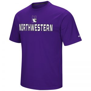Northwestern University Wildcats Colosseum Men's Purple Boblacko S/S T-Shirt with N-Cat Design