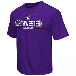 Northwestern University Wildcats Colosseum Men's Purple In The Vault S/S T-Shirt with N-Cat Design