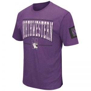 Northwestern University Wildcats Colosseum Men's Purple Spare A Square S/S T-Shirt