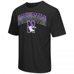 Northwestern University Wildcats Colosseum Men's Black Golden Boy S/S T-Shirt with N-Cat Design