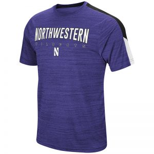 Northwestern University Wildcats Colosseum Men's Purple A Deuce S/S T-Shirt with Stylized N Design