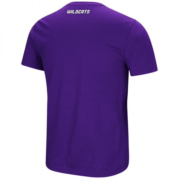 Northwestern University Wildcats Colosseum Men's Purple Men's Water Boy S/S T-Shirt with N-Cat Design-Back