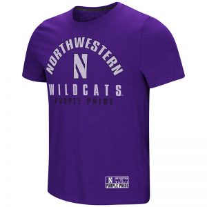 Northwestern University Wildcats Colosseum Men's Purple Rah Rah Rah S/S T-Shirt with Stylized N Design