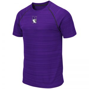 Northwestern University Wildcats Colosseum Men's Purple Daru S/S T-Shirt with N-Cat Design