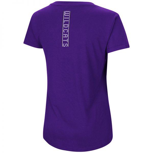 Northwestern University Wildcats Colosseum Ladies Purple How Good Am I? S/S T-Shirt -Back