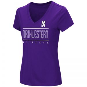 Northwestern University Wildcats Colosseum Ladies Purple How Good Am I? S/S T-Shirt