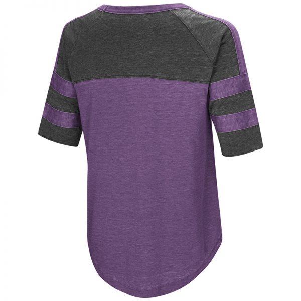 Northwestern University Wildcats Colosseum Ladies Purple Big Sweet Dollars S/S T-Shirt with Stylized N Design-Back