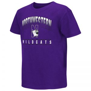 Northwestern University Wildcats Colosseum Youth Purple Golden Boy S/S T-Shirt with N-Cat Design