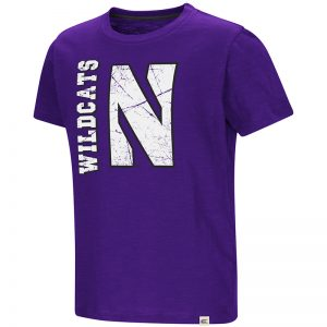 Northwestern University Wildcats Colosseum Purple Colossus Of Clout S/S T-Shirt with Stylized N Design