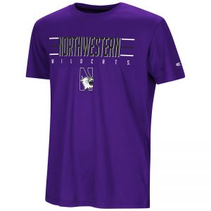Northwestern University Wildcats Colosseum Youth Purple Anytime! Anywhere! S/S T-Shirt with N-Cat Design