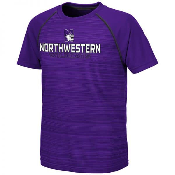 Northwestern University Wildcats Colosseum Youth Purple Buenos Aires S/S T-Shirt with N-Cat Design
