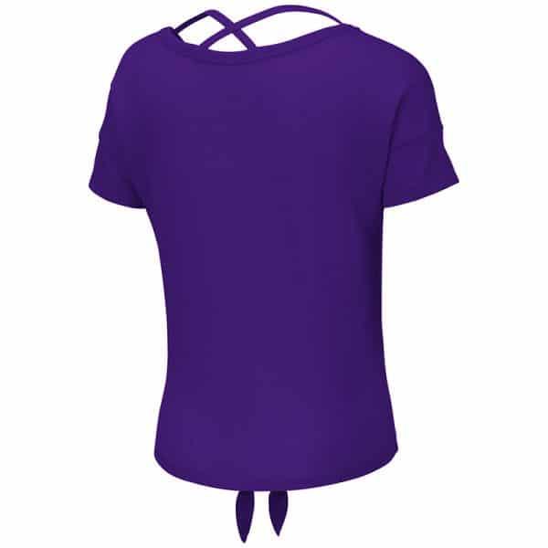 Northwestern University Wildcats Colosseum Girls Purple Linz Ballerina T-Shirt with Stylized N Design-Back