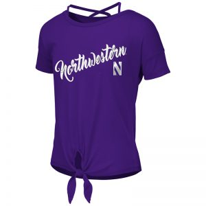 Northwestern University Wildcats Colosseum Girls Purple Linz Ballerina T-Shirt with Stylized N Design