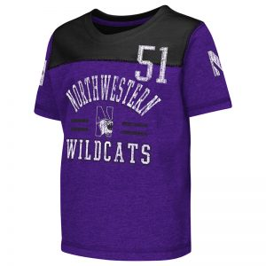 Northwestern University Wildcats Colosseum Toddler Purple/Black Lemon Tree S/S T-Shirt with N-Cat Design