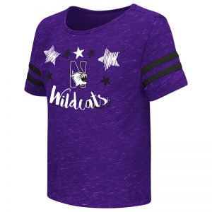 Northwestern University Wildcats Colosseum Toddler Girls Purple Janice S/S T-Shirt with N-Cat Design
