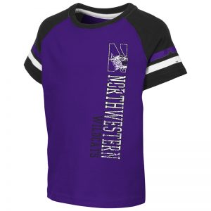 Northwestern University Wildcats Colosseum Toddler Purple/Black Edmonton S/S T-Shirt with N-Cat Design