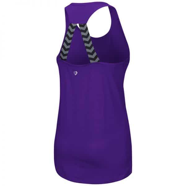 Northwestern University Wildcats Colosseum Ladies Purple Bamboozled Elastic Strap Tank with N-Cat Design-Back