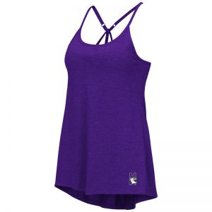 Northwestern University Wildcats Colosseum Ladies Purple Pheebs Strappy Tankwith N-Cat Design